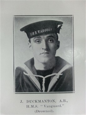 Photo:J. Duckmanton in the Borough of Worksop Roll of Honour of the Great War 1914 - 1918