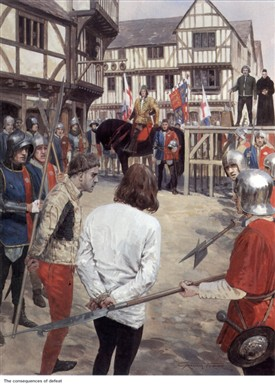 Photo:Execution of Henry Beaufort, Duke of Somerset, after the Battle of Hexham