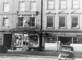 Photo:Forrest's Shop, Bridge Street, Worksop, c 1940s-50s