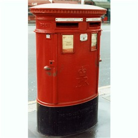 Photo:Double pillar box