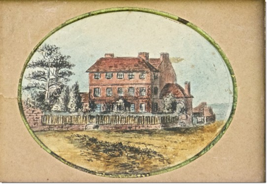 Photo:Gateford House: An amateur watercolour c.1820