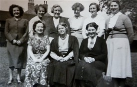 Photo:Staff at the school in 1957
