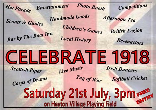 Photo: Illustrative image for the 'Celebrate 1918 at Hayton village' page