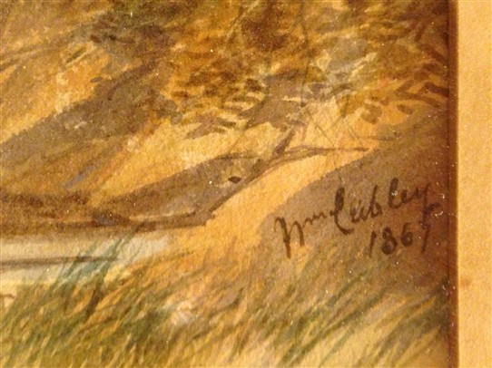 Photo: Illustrative image for the 'William Cubley large water colour' page
