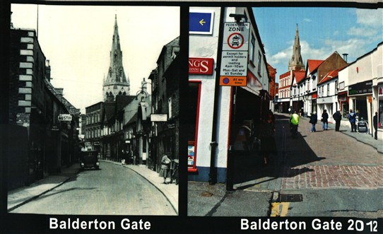 Photo:Our modern view of Baldertongate is still recognisable in the old photo.