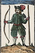 Photo:16th Century image of Robin with his weapons