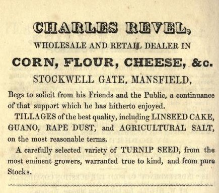 Photo:Advert from 1850 (From ANON 'A Visit to Sherwood Forest' (Mansfield: Collinson, 1850)