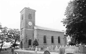Photo:The parish church of St.Luke at Kinoulton, built by the Earl of Gainsborough in 1793