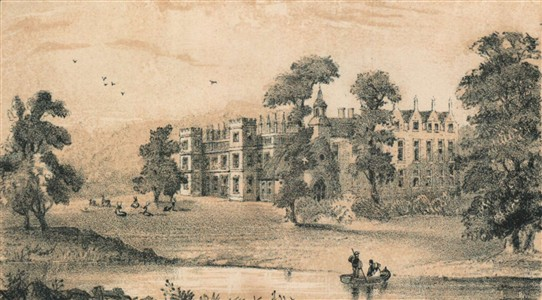 Photo:Welbeck Abbey from a pencil drawing dated c.1850