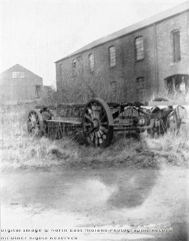 Photo:A sad end: the chassis of the Mansfield steam bus, discarded and neglected.  Photographed by A.S. Buxton in c.1900