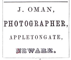 Photo:Advert from J. Perfect's Almanac of Newark, 1865