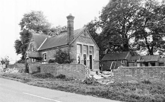 Photo:Alverton village scool - looking south east from Flawborough Road, 1978