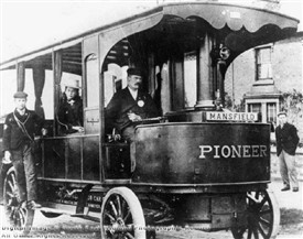 Photo:The Mansfield 'Pioneer' steam bus, photographed 30th June, 1898
