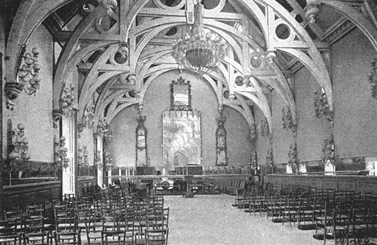 Photo:The chapel at Welbeck Abbey in 1900