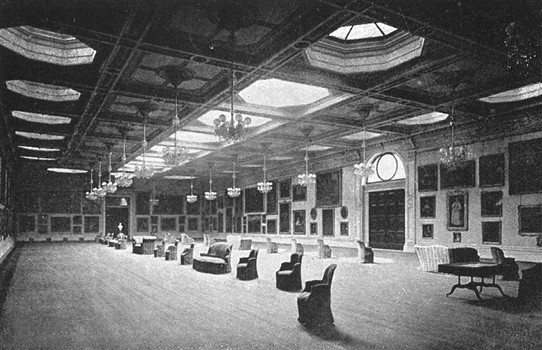 Photo:The Picture Gallery at welbeck Abbey in 1900